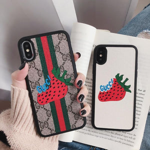 GUCCI(グッチ) ストロベリー IPhone 11 Pro Max、11 Pro、11、XS Max、XS、XR、X、7/8、7/8 Plus、6/6s、6/6s Plus ケース 8色