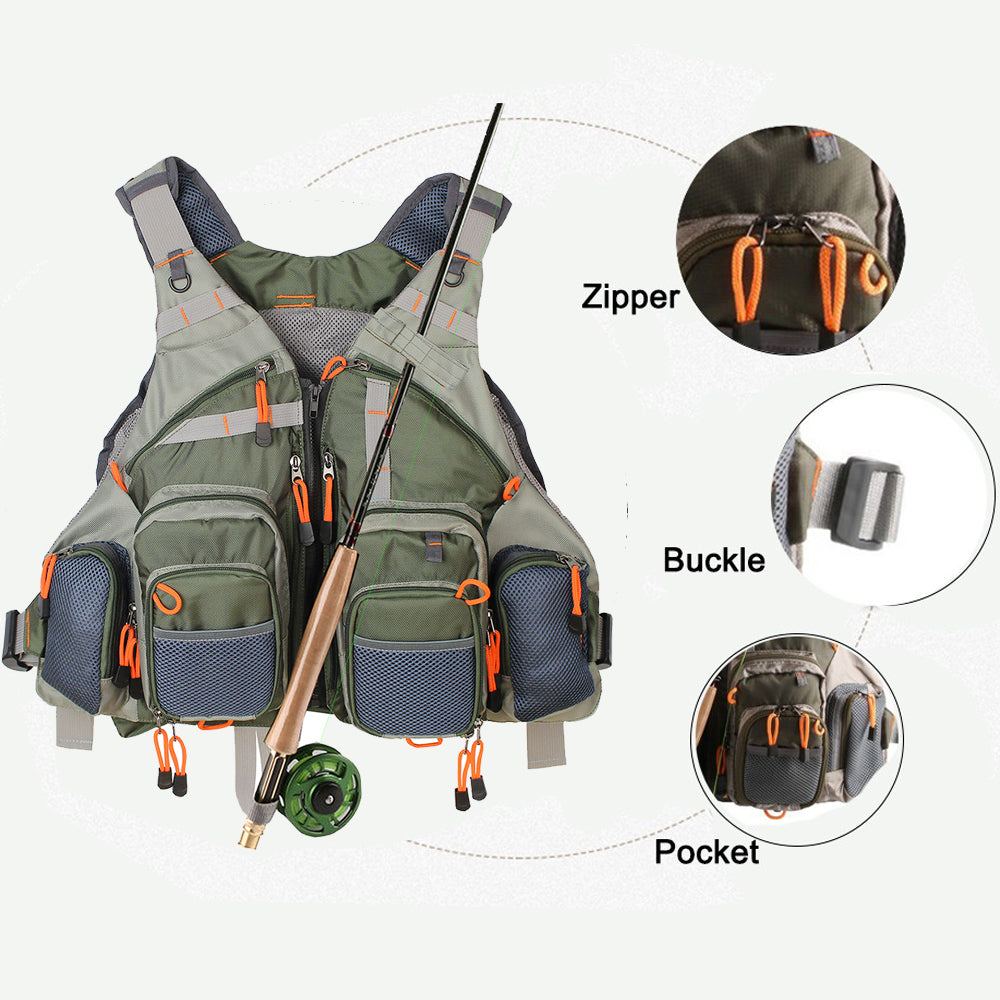 Multipocket Fly Fishing Vest!