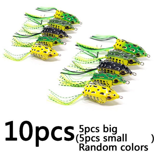 Ultimate Soft Frog Topwater Kit - 10 pieces