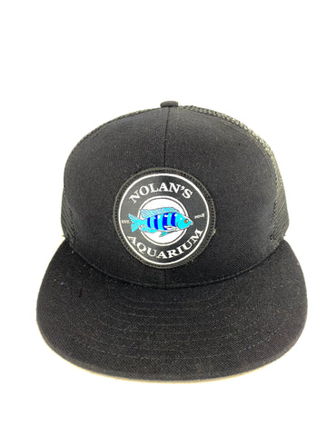 Nolan's Aquarium Black Mesh SnapBack Hat