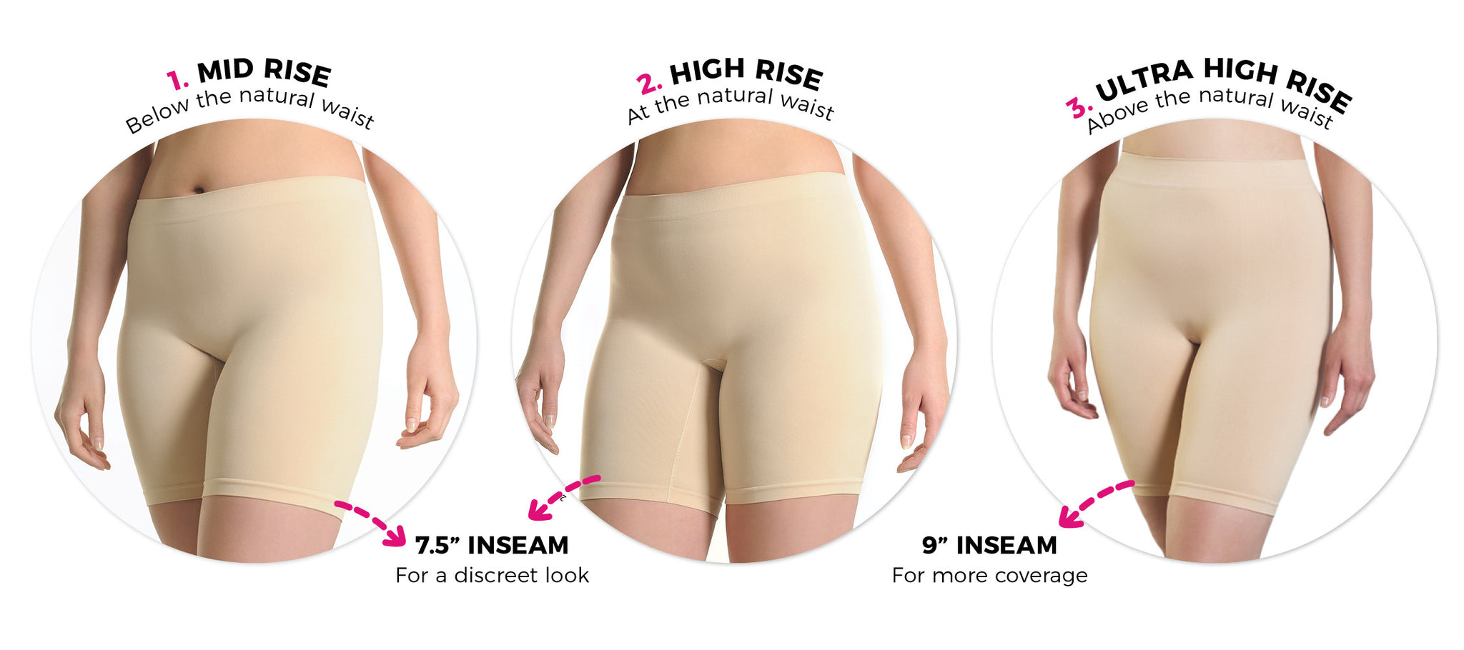 Thigh Society Anti-Chafing Slip Shorts Styles