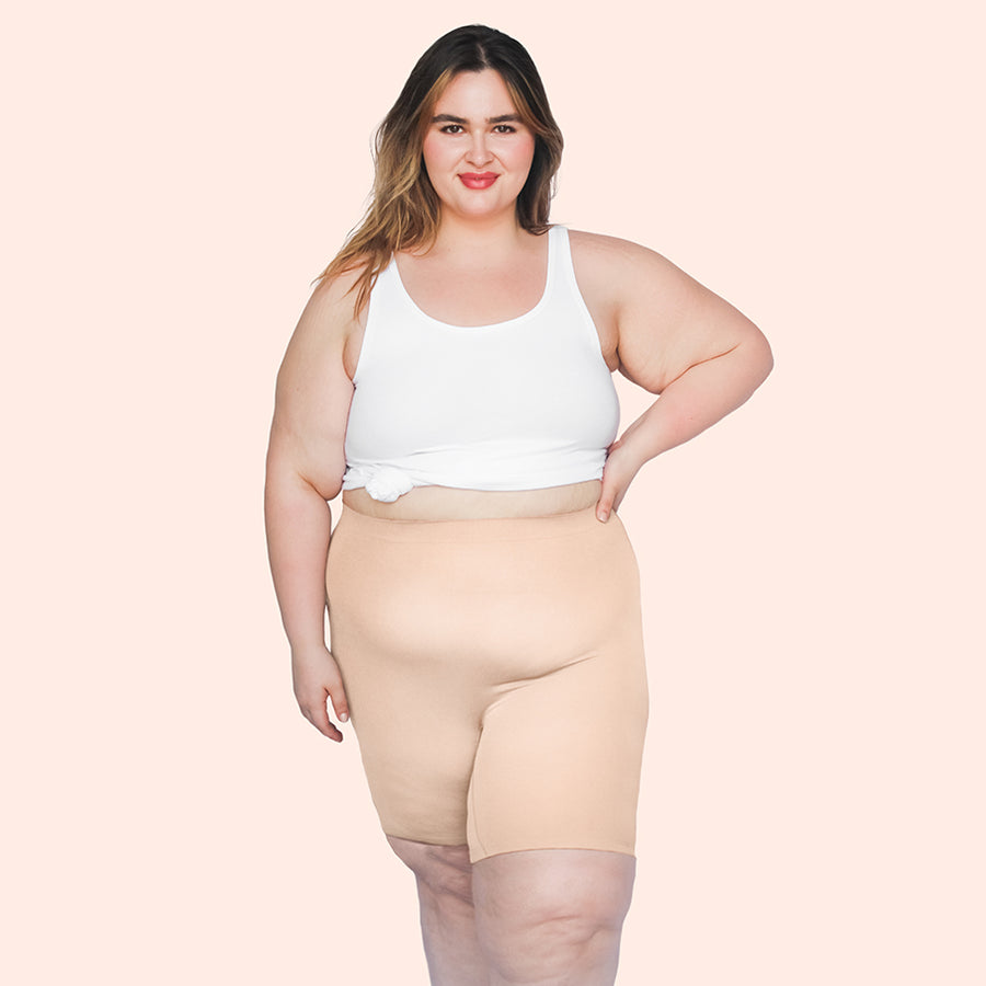 color:Beige|model:Abriana is 5'7 and wearing XL/2XL Long