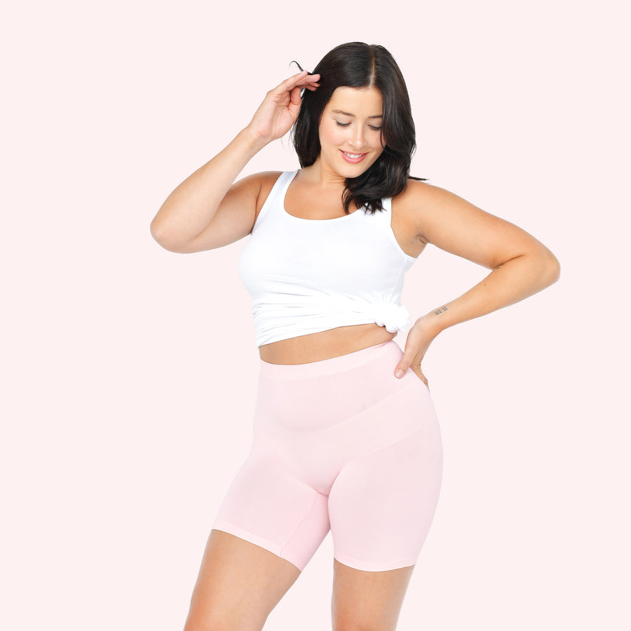 color:Light Pink|model:Meghan is 5'9 and wearing M/L Mid