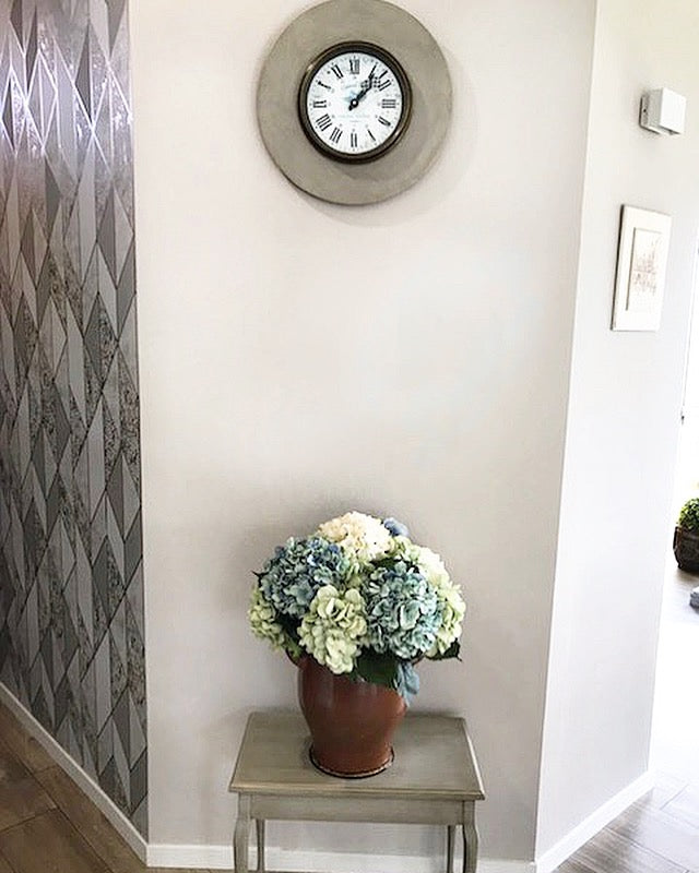 Clock & Side Table