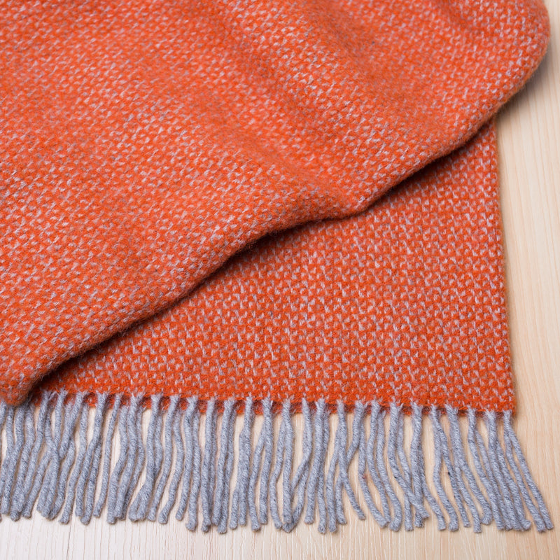 DALE WARWICK THROW - PERSIMMON - PURE WOOL