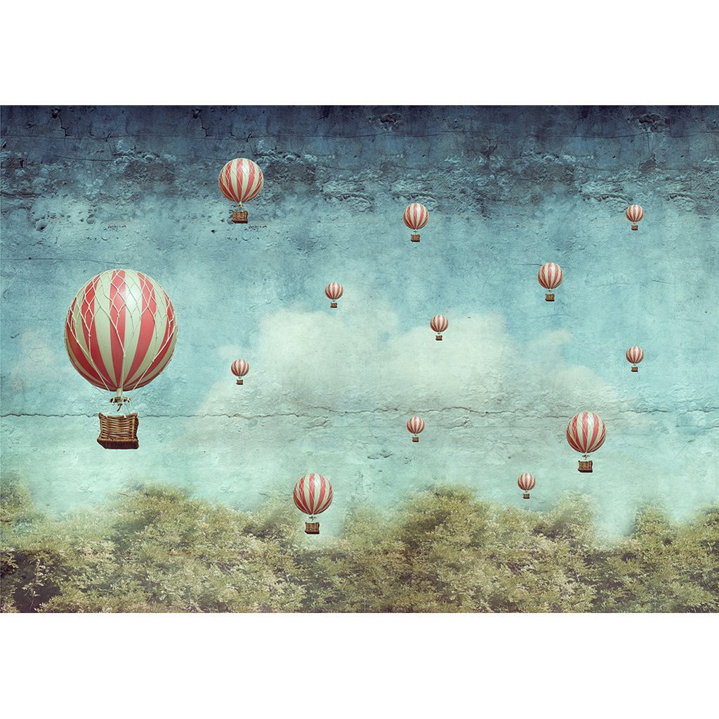 BALLOONS - MINT DECOUPAGE PAPER