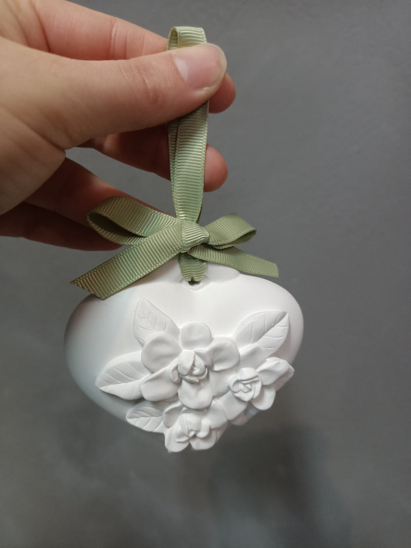 Scented Heart Clay- Lilly of the Valley