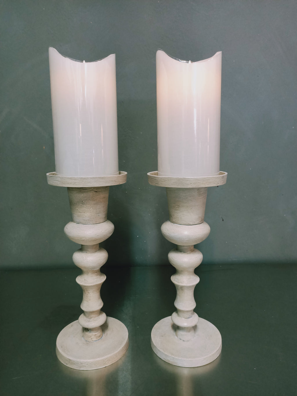 Hand-painted candle holder