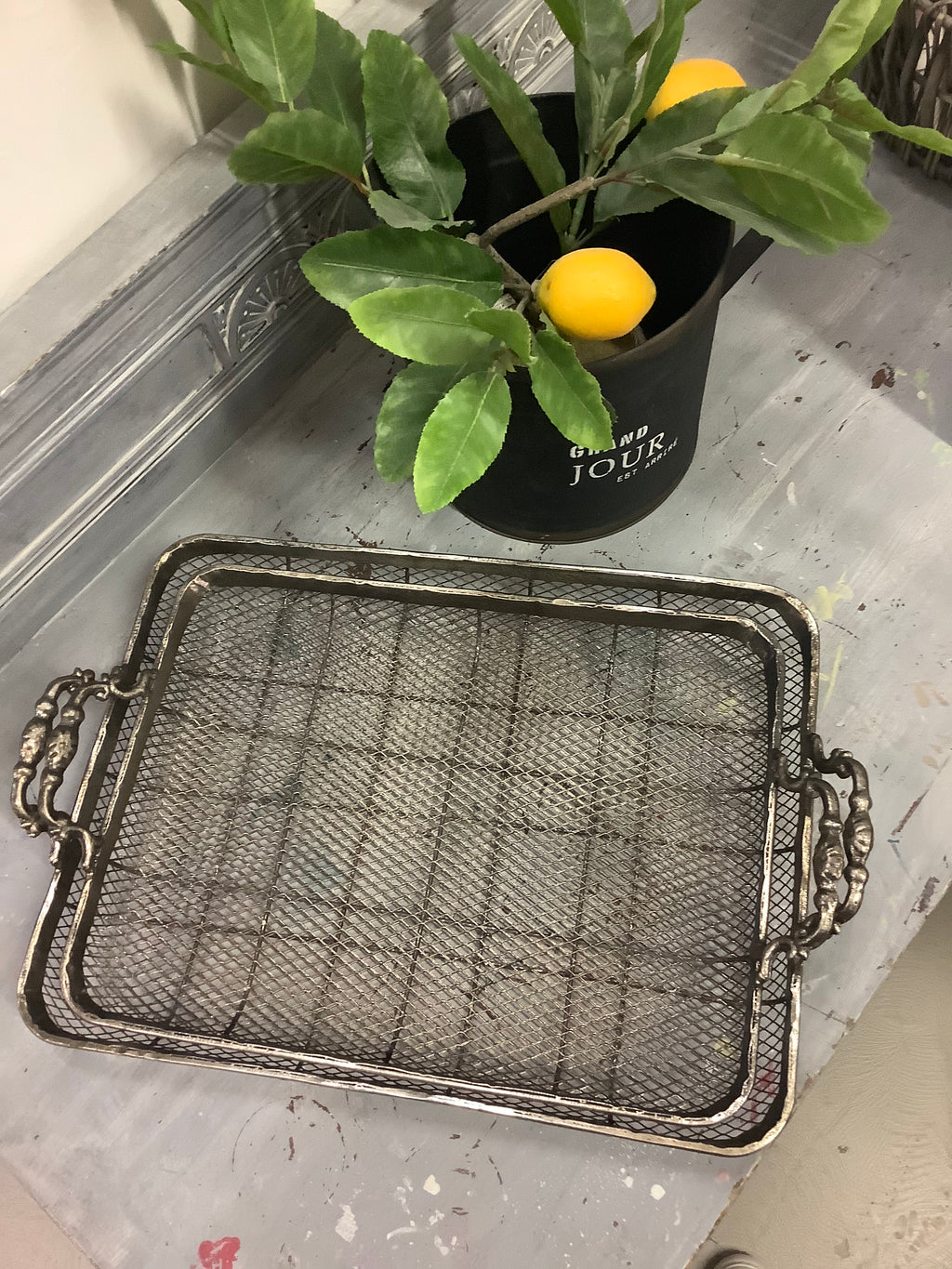 RECTANGLE MESH TRAYS - SET OF 2