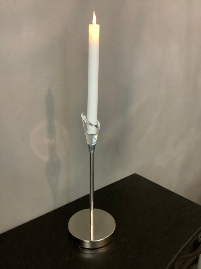 ANGLED NICKEL PLATED CANDLE HOLDER