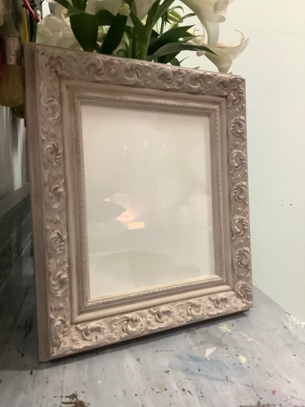 HAND PAINTED ANTIQUED PHOTO FRAMES
