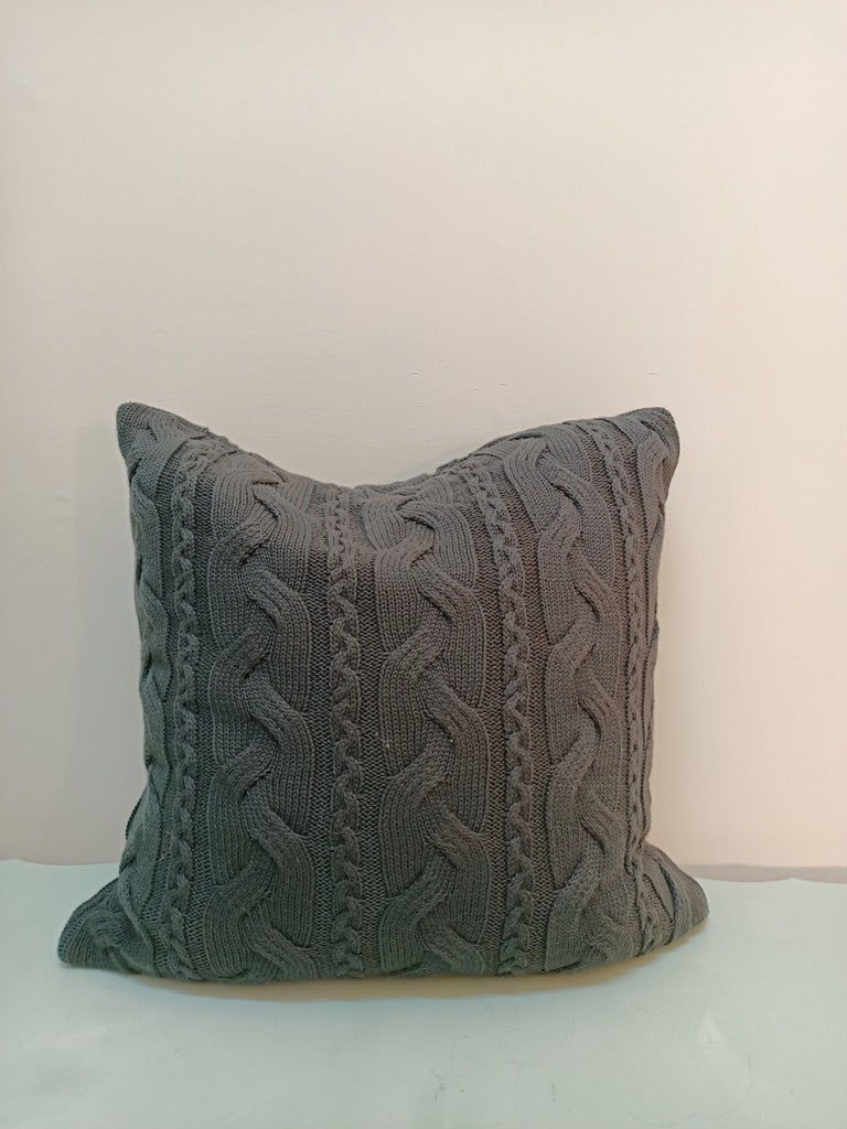 GREY WEAVE CUSHION