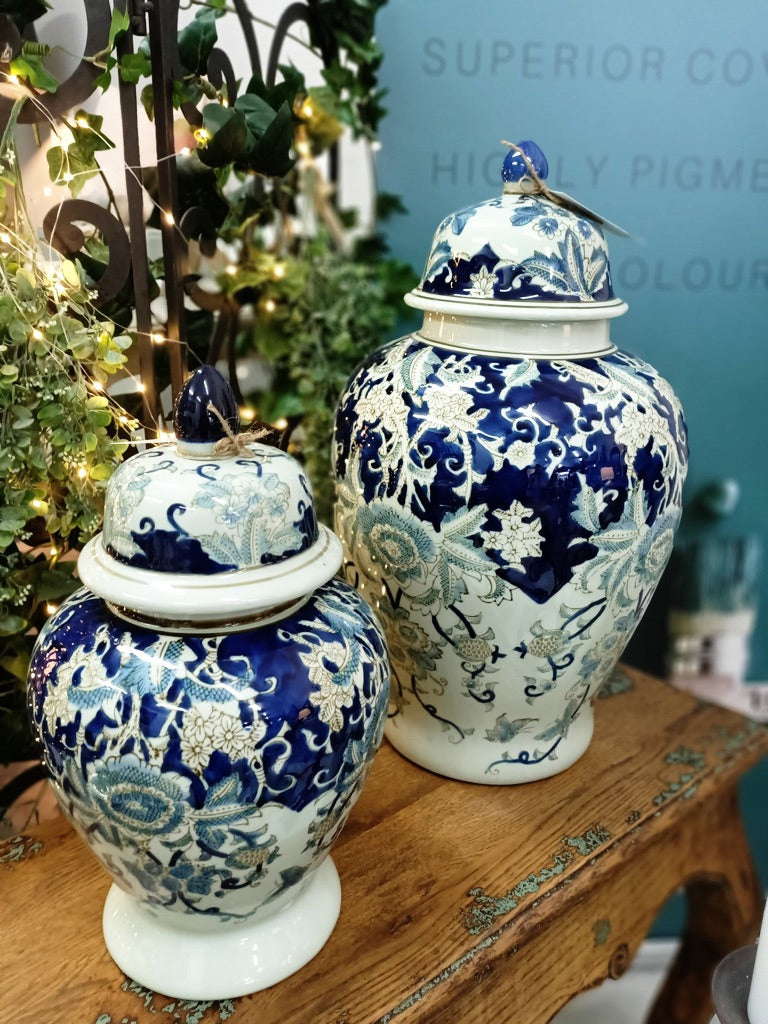 SALE PRICE - BRYN HAND PAINTED GINGER JARS