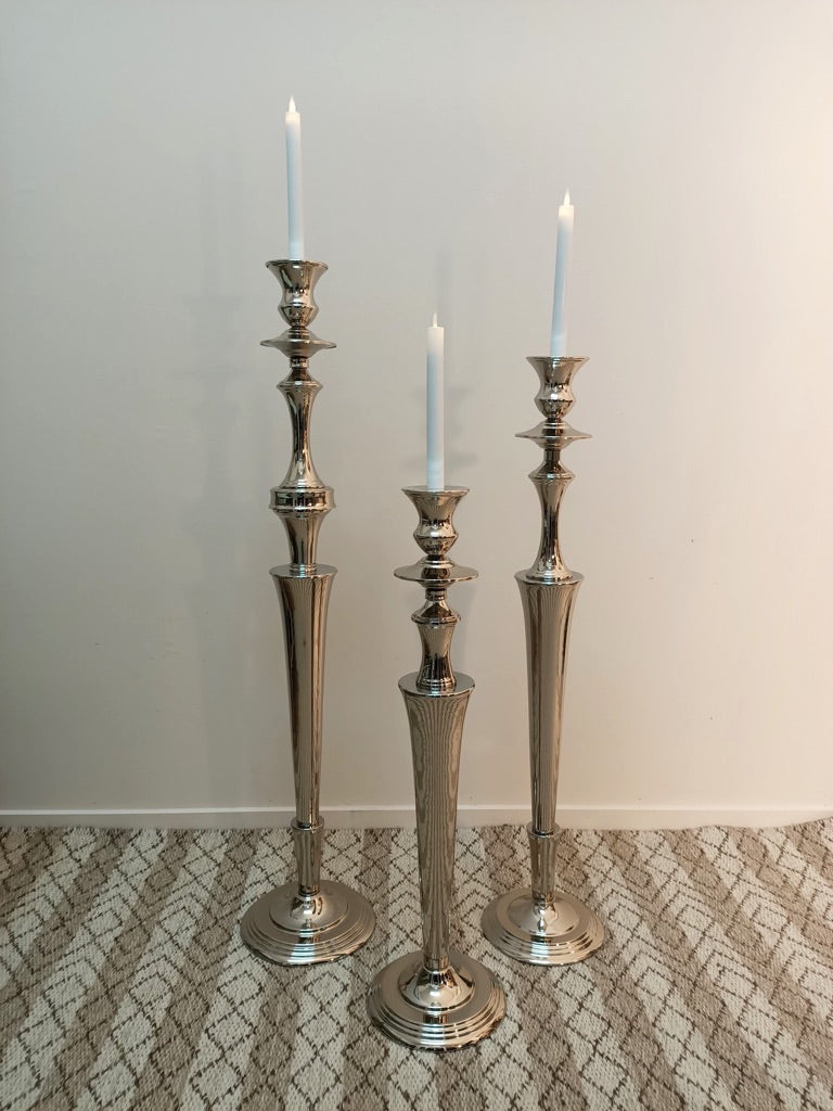 SALE PRICE - NICKEL PLATED CANDLE STANDS