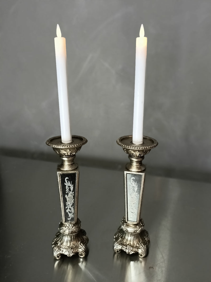 Ornately patterned candle holder