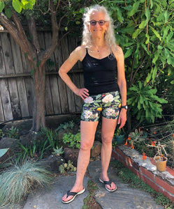Magical Yogi Wear Sri Yantra Black Yogi Shorts - Marie-Joie Hughes Artwork & Designs
