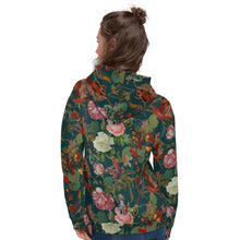Load image into Gallery viewer, Teal Val Floral Unisex Hoodie Magical Yogi Wear