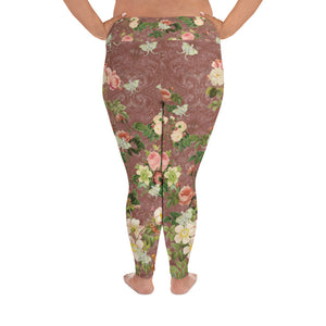 Tuscan Rose Magical Yogi Wear Plus Size Leggings