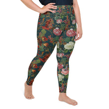 Load image into Gallery viewer, Teal Valfloral plus size leggings-Magical Yogi Wear