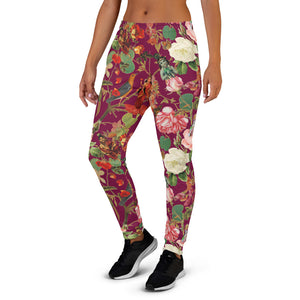 Fuchsia Val Flora women's Joggers-Magical Yogi Wear