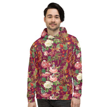 Load image into Gallery viewer,  Hoodie-Val Floral Fuchsia-Magical Yogi Wear