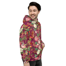 Load image into Gallery viewer, Fuchsia ValFloral Unisex Hoodie-Magical Yogi Wear