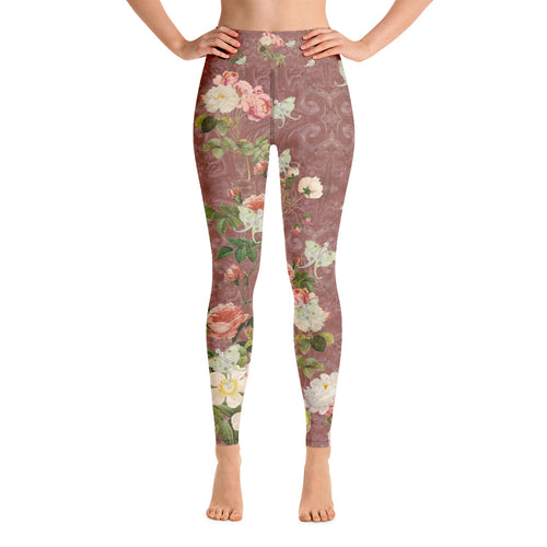 Tuscan Rose Magical Yogi Wear Leggings