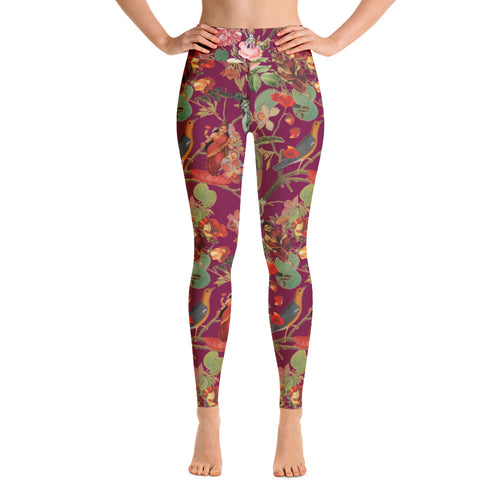 Magical Yogi Wear: Valfloral Fuchsia Yoga Leggings