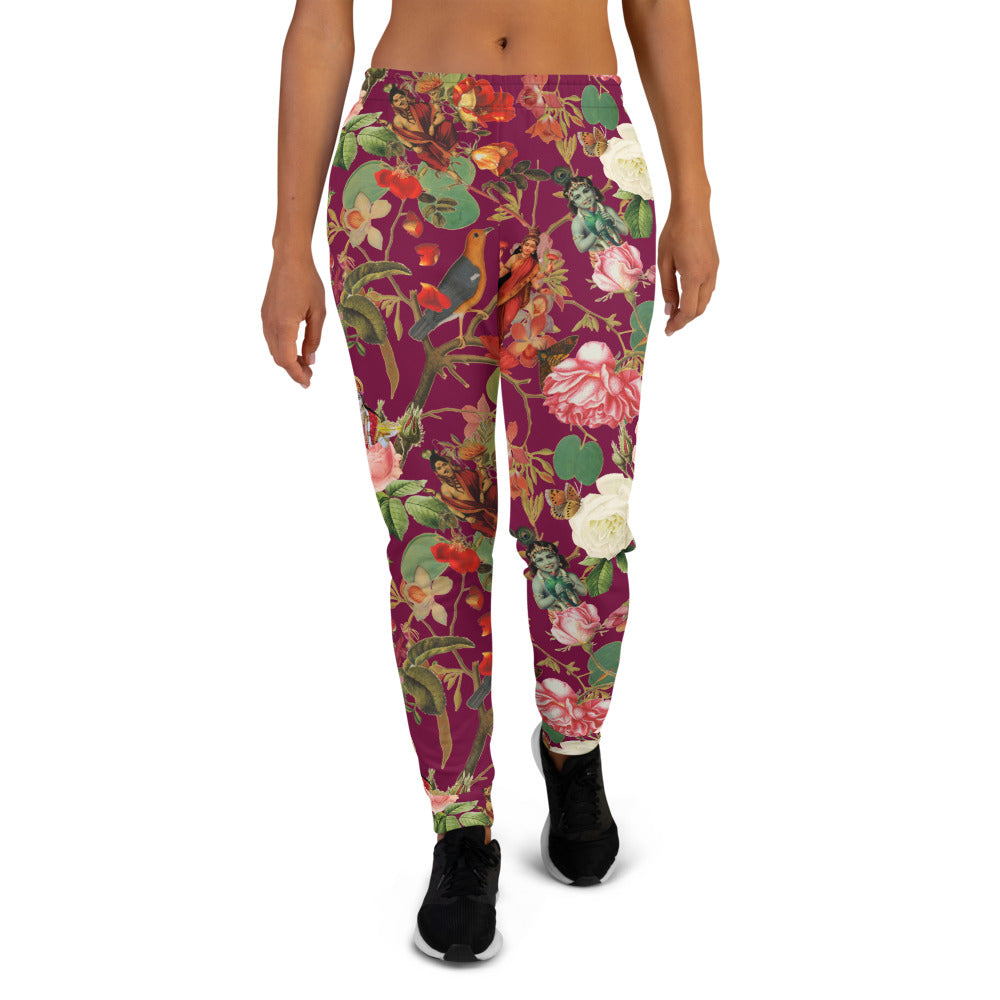 Fuchsia Val Floral women's joggers- Magical Yogi Wear