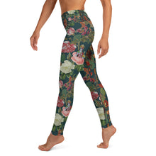 Load image into Gallery viewer, Teal Valfloral Yoga Leggings-Magical Yogi Wear