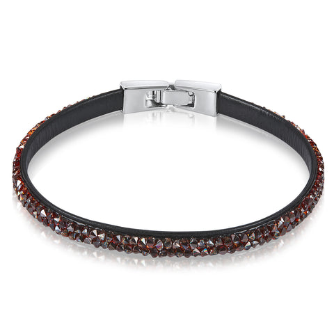 Raw Crystal Bracelet Ft Swarovski Crystals -Red