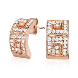 Elegance Earrings w/ Crystals From Swarovski -Rose Gold