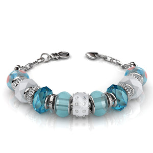 Charm bracelet set Ft Swarovski Elements