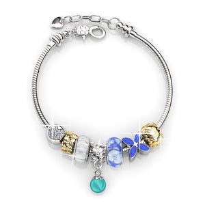 Rising Charm Bracelet Set Ft Swarovski Crystals