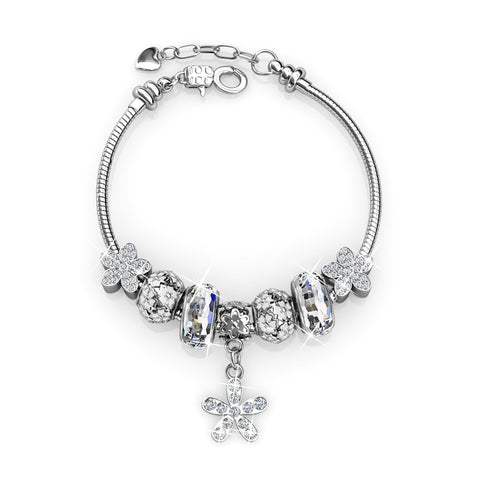 Princess Charm Bracelet Set Ft Swarovski Crystals