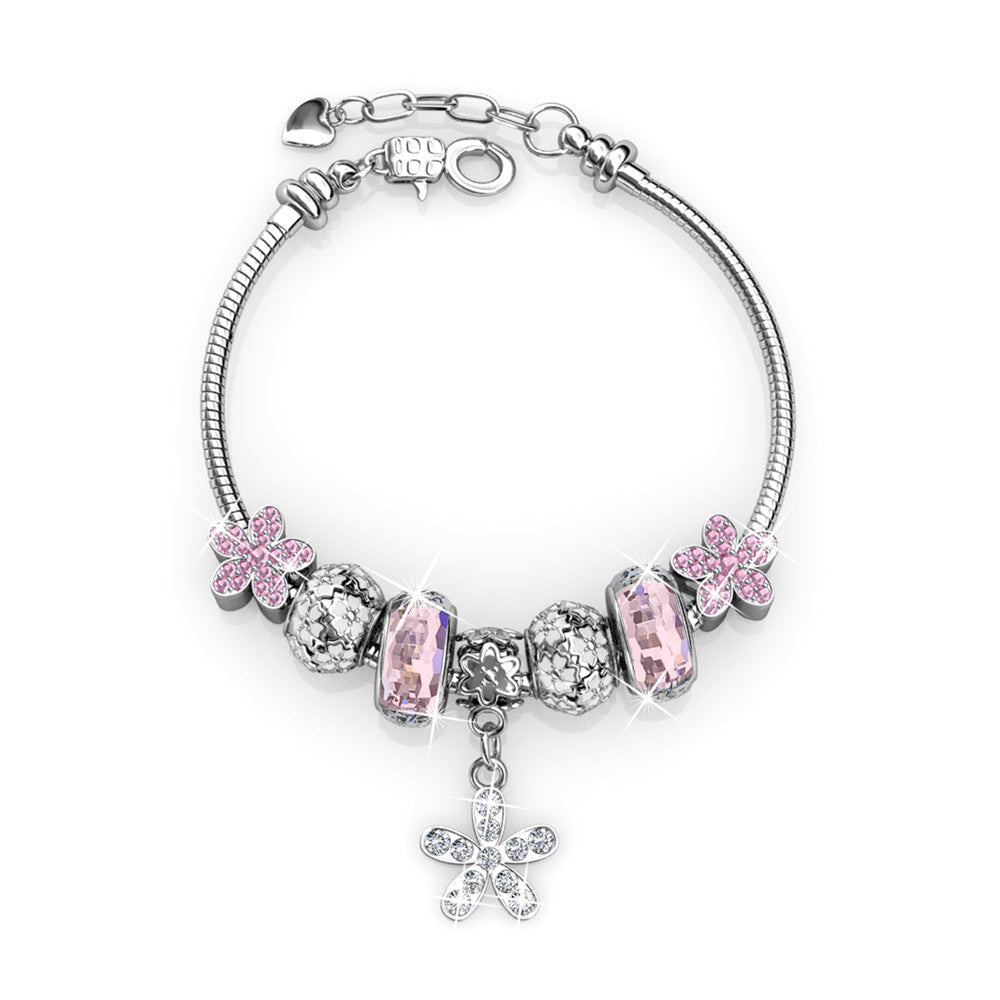 Dutchess Charm Bracelet Set Ft Swarovski Crystals
