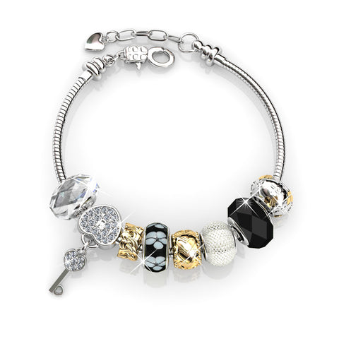 Brilliance Charm Bracelet Set Ft Swarovski Crystals