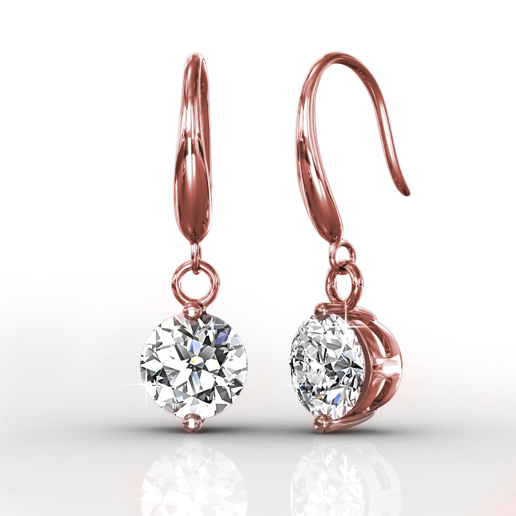 Arista Drop Earrings Embellished with Crystals from Swarovski -RG