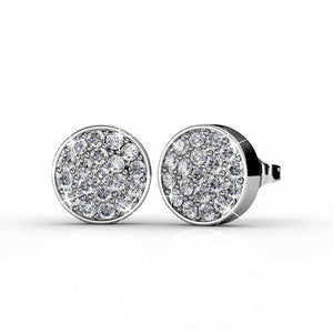 Pave Earrings Ft Swarovski Elements