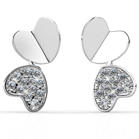 United Hearts Earrings Ft Swarovski Elements