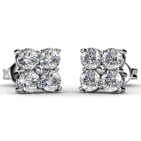 Quad Stud Earrings Ft Swarovski Elements