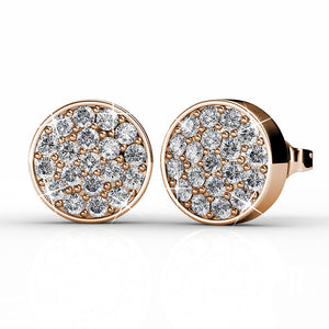 Pave Earrings Ft Swarovski Elements -RG
