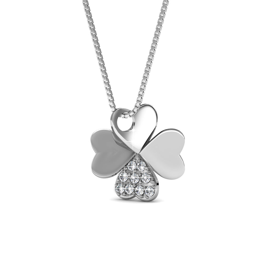 Clover Pendant Necklace Ft Swarovski Crystals