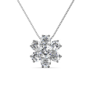 Ice Castle Pendant Necklace Ft Swarovski Crystals