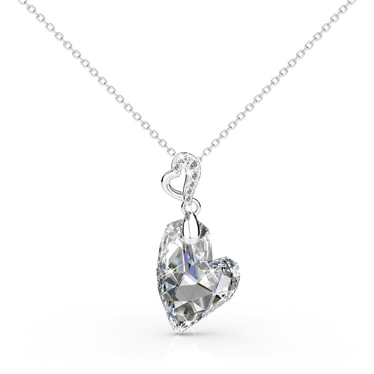 Heart Of Isla Pendant Necklace Ft Swarovski Crystals
