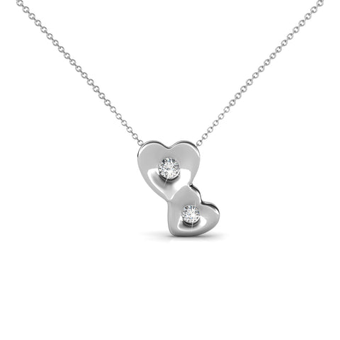 Heart Pendant Necklace Ft Swarovski Elements