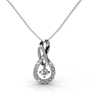Twist Pendant necklace Ft Swarovski Elements