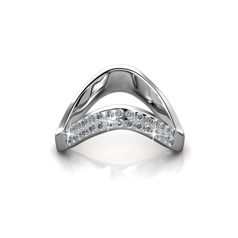 Bianca White Gold Ring Ft Swarovski Crystals