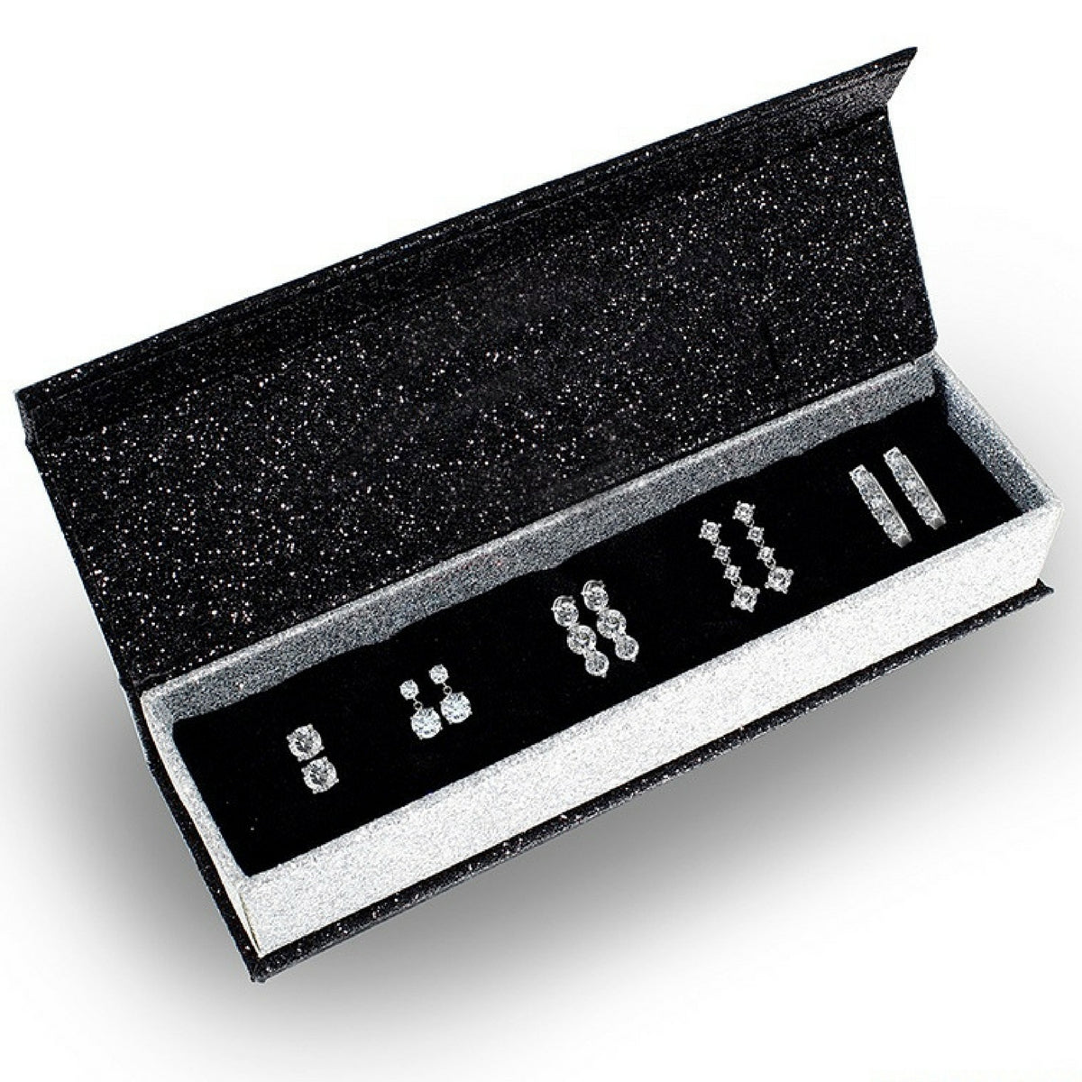 Boxed Swarovski Crystal Earring Set - 5 Pair
