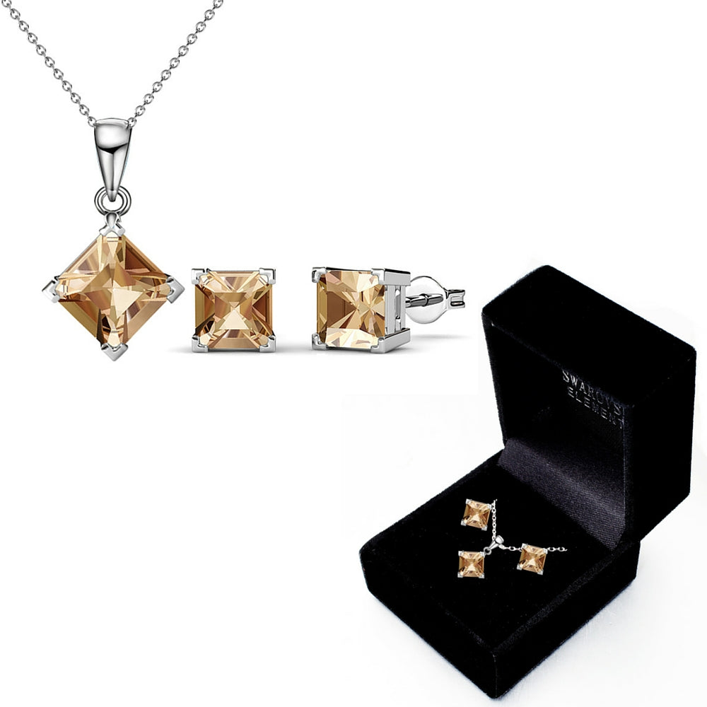 Boxed Matching Set Ft Swarovski Elements - Campagne